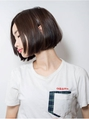 【keep hair design】黒髪ボブ×前髪なし【by三橋】