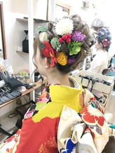 成人式振り袖着付けとふわアップアレンジ【ヘアアレンジ 立川】.4