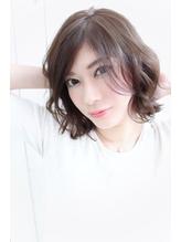 dee 大人かわいい流し前髪ふんわりボブ .15