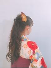 【卒業式 袴 着付け 横浜】 ポニーテール.4