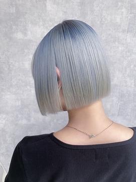 ペールカラーグラデーション/ミニボブ/髪質改善/艶髪