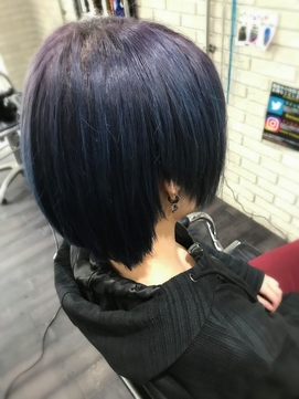 dark purple × dark blue gradation TRICKstyle!