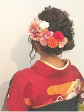 卒業式 袴着付★シンプル和髪 アップスタイル.6