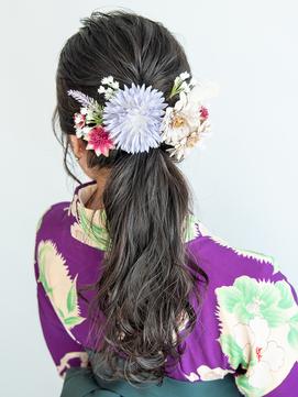 卒業式の袴に似合う♪編み込みポニーテールヘアアレンジ♪