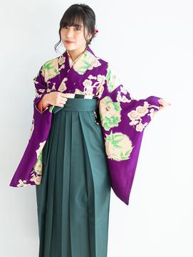 卒業式の袴スタイルと編み込みダウンヘアアレンジ♪