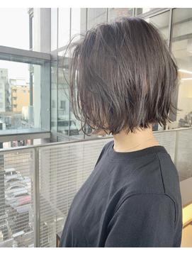 【VALLEY hair care &spa】切りっぱなしボブ×グレージュ