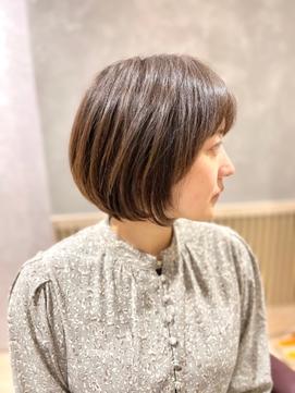 名古屋の美容室actif ミセス  抜け感 丸みショート イメチェン