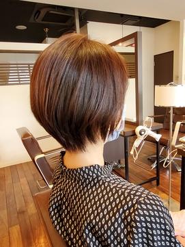 【お客様フォト】ショートヘアでも自然な内巻き特殊縮毛矯正