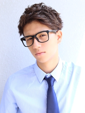 AFLOAT《須藤直矢》20代30代ビジネスショート◎メガネ髪型