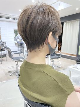 【DISHEL】大人カワイイ ハンサムマッシュ白髪が溶け込むカラー