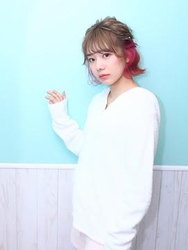 ☆Wonder Land☆ハーフアップショート☆壁紙ミントブルー