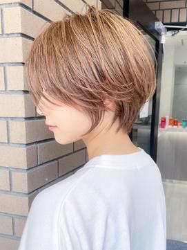 【coall表参道】クールショート 大人かわいい ピンクベージュ