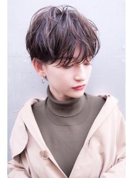 【kate 大宮】マッシュショート×モカブラウン