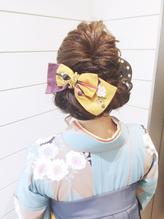 【Neolive & 渋谷店】ふんわりセット☆卒業式アレンジ 卒業式,着物.4