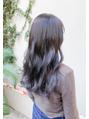イメチェン/ネイビージュ/前髪/透明感/韓国/イヤリングカラー可