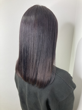 geniee☆YU バイオレットアッシュ ミネコラ 髪質改善 ストレート