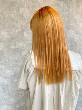 ペールイエロー/10代・20代/髪質改善/艶つや
