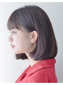 大人ボブxボブルフxピンクベージュxモテ髪カタログ 35