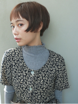 【nanuk】外国人風のショートカット◇眉上の束感前髪