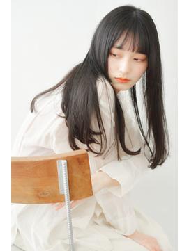 《'ekolu 横山》うるツヤ柔らかい暗髮ロング前髪あり