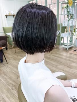 【morio下通】前下がりショート黒髪ボブ30代40代