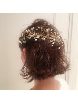 《lond omotesand担当rico》切りっぱなしボブ wedding arrange☆