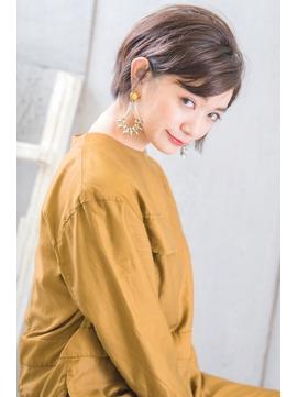 【stylist畠山】トップふんわりレイヤーショート グレイカラー