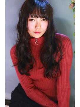 【Lua】シースルーバング×モノトーンカラー#黒髪風#韓国風