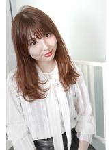透明感ladyへ☆セピアブラウン×フェザーロング2.2