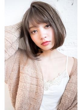 【EIGHT new hair style】ニュアンスボブ×シアーグレージュ