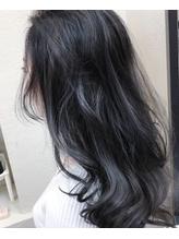 ☆ misherry 【萩本 有輝】外国人風とろみカラー ブルー☆ セクシー.54