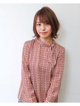 【K-two】フォギーベージュ/小顔外ハネstyle.2