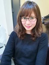 【ヘアジュレドゥ小澤】 メガネ似合わせナチュラル可愛い女子☆ メガネ.7