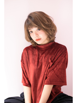 【shiomi H】大人可愛いカールボブ