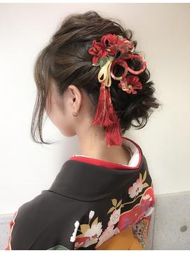 卒業式 ヘアセット 横浜 袴着付 18