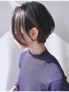 【morio 原宿】黒髪ショートボブ 耳かけ 前髪なし