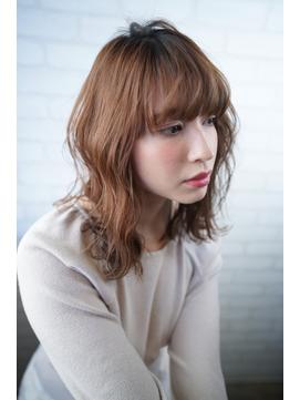 オリジナル髪質改善  外国人風パーマ&イルミナカラー【中野】