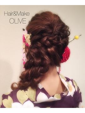 浴衣アレンジヘアー