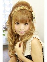 ~三つ編みカチューシャ★盛り髪~ 盛り髪.3