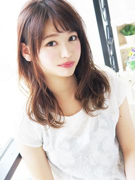 【ヘアジュレドゥ 花井】 モテNatural カワイイ女子セミディ☆
