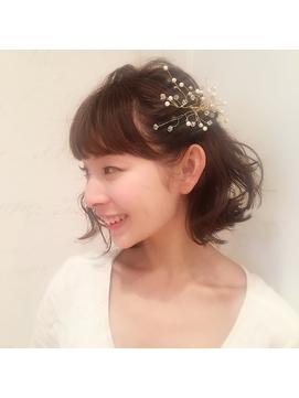 《lond omotesand担当rico》切りっぱなしボブ wedding arange☆