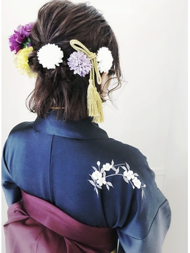 【neolivekuta町田】卒業式 袴着付け ヘアセット 311