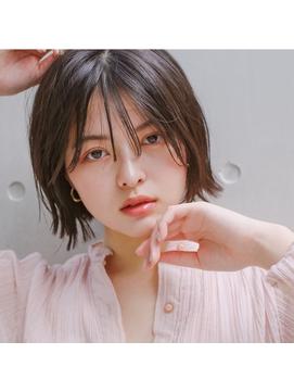 【Virgo 吉祥寺】外ハネミニボブ×くすみピンク