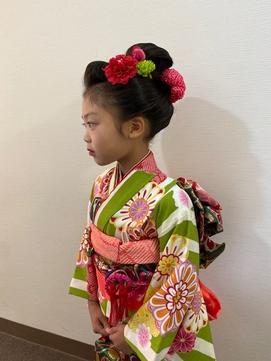 七五三の新日本髪