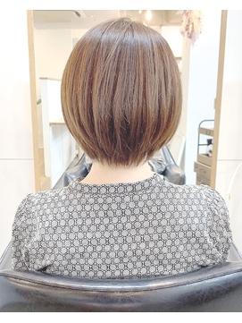 ☆大人かわいい小顔ひし形秋冬ショートボブ30代40代渋谷表参道