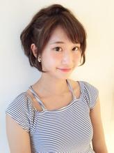【下北沢*I'll b hair*】斜めバングハーフアップアレンジ カチューシャ.29