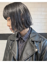 【YUMA】ブルーブラック×切りっぱなしボブ.6
