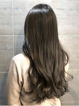 【髪質改善】透明感・ツヤ感暗めカラー♪アッシュベージュ