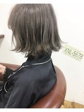 <famille>【Wカラー】外ハネ+シルバーグレージュ シルバー.28
