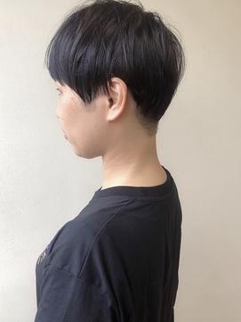 [高田馬場オガワヨシト]刈り上げベリーショート大人黒髪
